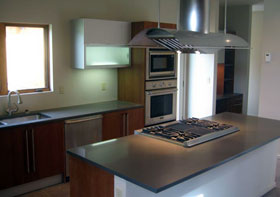 A Pidini Kitchen with a Beleza countertop
